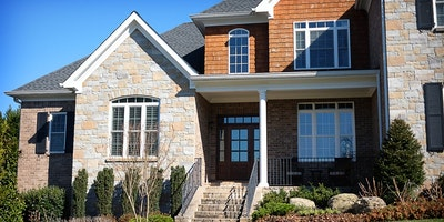 Exterior white trim on brick home - Residential painting by Nash Painting Nashville TN