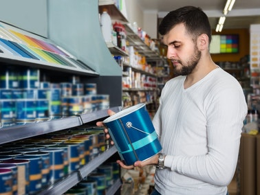 Man shopping for high quality paint