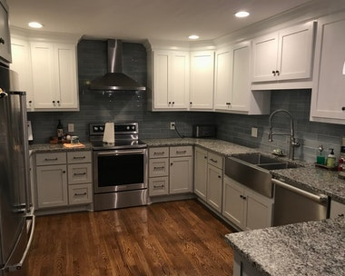 Newly painted kitchen in Nashville